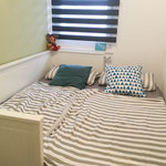 Das ausgezogene Kinderbett