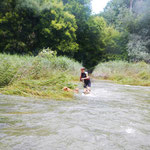 Überqueren einer uberfluteten Furth
