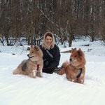 Meine zwei Mädels Luna und Alaska