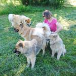 Michaela mit Aaron, Ban, Cardia und Alaska