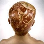 Natacha Lesueur, exemple d'une photographie avec de la charcuterie de la série des Aspics, 80x80 cm, 1998 .
