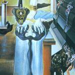 Salvador Dali, homme invisible, huile sur toile, 140x80cm, 1929 1932.