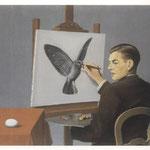 René Magritte, La clairvoyance, 1936.