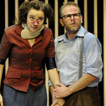 Offene Zweierbeziehung, Rolle: Antonia, Regie: Tobias Materna, Ausstattung: Till Kuhnert, Staatstheater Wiesbaden 2010, Foto: Martin Kaufhold, mit: Wolfgang Böhm