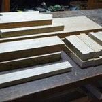 座敷椅子 木作り 2脚分
