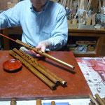 オリジナルケーナ管内朱漆塗り