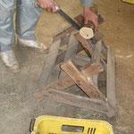 みかんの幹の輪切りを作る