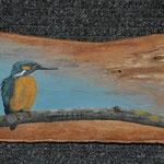 Eisvogel auf Holzrinde 2013