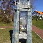 Ein Bücher-Tausch-Turm in Nida