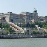 Der Burgberg von Buda mit der Königsresidenz