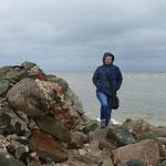 Hier treffen sich die Wasser der Rigaer Bucht und die der Ostsee