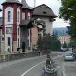 Auch in den größeren Städten sind Pferdefuhrwerke noch an der Tagesordnung