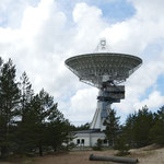 Die Radioteleskop-Station von Irbene - von hier aus wurde der Westen belauscht