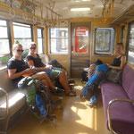 Mit der Bimmelbahn nehmen wir Abschied von der Bergregion Hakones