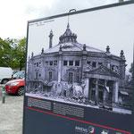 Das Zirkusgebäude, das Jules Vernes eingeweiht hat, wurde im Krieg schwer zerstört