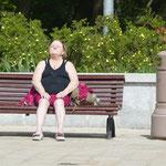 Diese Dame hier scheint hart im Nehmen. Oder wir gehören zur Fraktion Warmduscher...