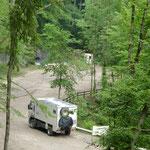 Ein netter Übernachtungsplatz am rauschenden Wildbach