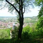 die Landschaft der Franche-Comté hinüber in Richtung Burgund