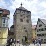Am schwarzen Tor geht es hinein in die Rottweiler Altstadt