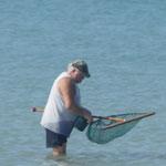 Sonntags-Sport der Franzosen - wir angeln unser Mittagessen