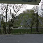 Unser Blick aus dem Mumin auf den Gediminas-Burghügel. Zentraler und ruhiger geht es kaum