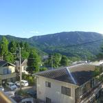 Unser morgendlicher Blick aus dem Fenster. Beste Bedingungen um auf den Berg zu gehen.