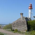 Ein Leuchtturm und ein perfekter Strand-Parkplatz zum Urlaubsausklang