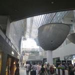 Ankunft am Bahnhof Kyoto. Bereits die erstes Sehenswürdigkeit