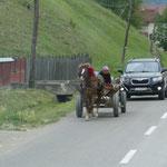 Rumänische Straßenverhältnisse