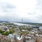 Von oben hat man einen wunderbaren Ausblick auf die Stadt Riga