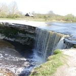 Der Jägala-Wasserfall - der breiteste Wasserfall Estlands