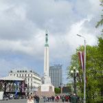 Das Unabhängigkeits-Denkmal in Riga - hier wird der 4. Mai als Nationalfeiertag zelebriert