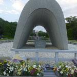 Der Kenotaph enthält alle Namen der bekannten Opfer der Atombombe