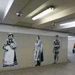 Kunst in der Straßenunterführung