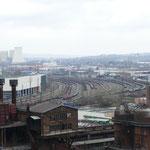 Ausblicke auf die noch intakte Industrielandschaft an der Saar