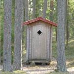 Ein DC - eine Komposttoilette - gibt es überall auf diesen Plätzen