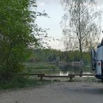 Wieder mal ein schöner Übernachtungsplatz direkt am Fluß Gauja