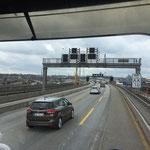 Auf dem Weg zur Fähre ist Hamburg erreicht