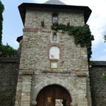 Eim Eingang zum Kloster Moldevita