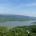 Von der Burg Visegrad haben wir einen wunderschönen Ausblick auf die Donau