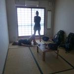 Wieder mal ein Zimmer im japanischen Stil. So langsam gewöhnen wir uns daran.