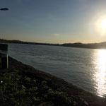 Abendstimmung an der Donau beim Stift Melk / Österreich
