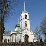 Die russisch-orthodoxe Kirche des Dorfes