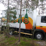 Eine mobile Sauna mitten im Wald
