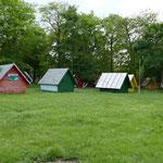 Campinghütten auf unserem Übernachtungsplatz