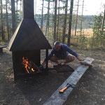 Der Feuermeister in Aktion