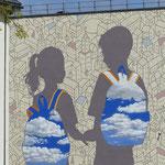 Wandgemälde an einer Schule
