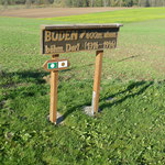 Hinweistafel zum ehemaligen, böhmischen Dorf Boden