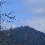 Blick auf den Mont St. Odile - den heiligen Berg der Elsässer