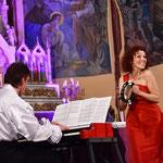Concert du duo Canticel à l'église de Corneilla